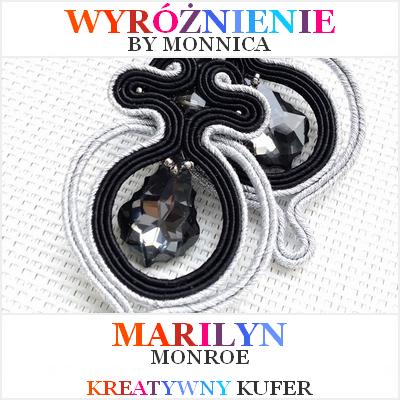 Wyróżnienie kolczyków dla Marilyn - wyzwanie Kreatywny Kufer