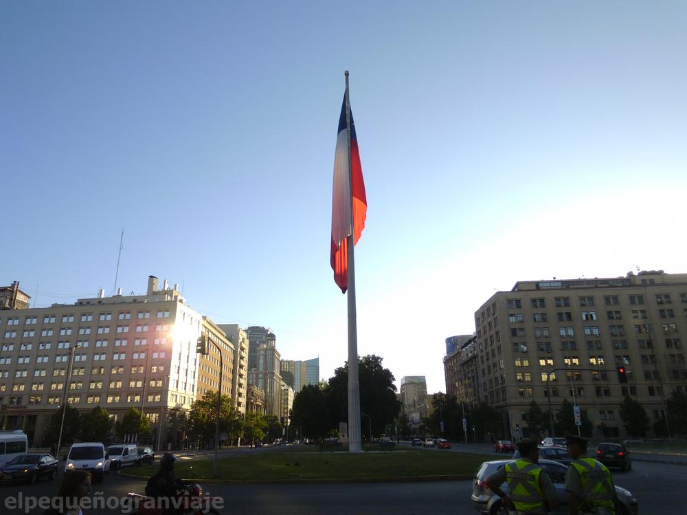 "Santiago de Chile, Chile, bandera, Av. Bernardo O""'higgins"