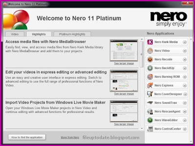 Free download Nero Multimedia Suite 11 full