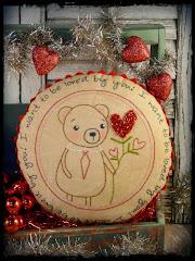 Valentine bear pattern