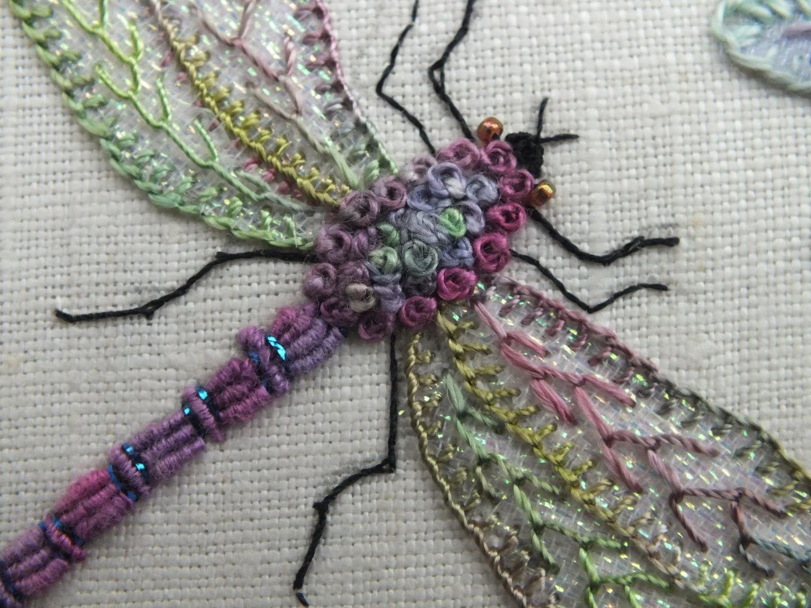 Вышивание стрекозы - наборы для вышивания.