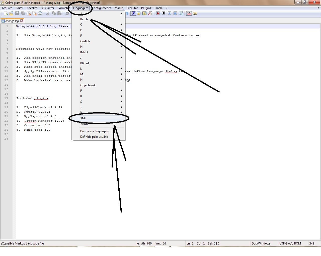 Editar template