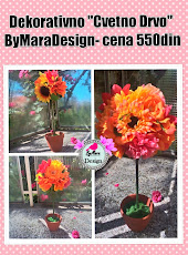 "Dekorativno ""Cvetno Drvo"" ByMaraDesign- cena 550din"
