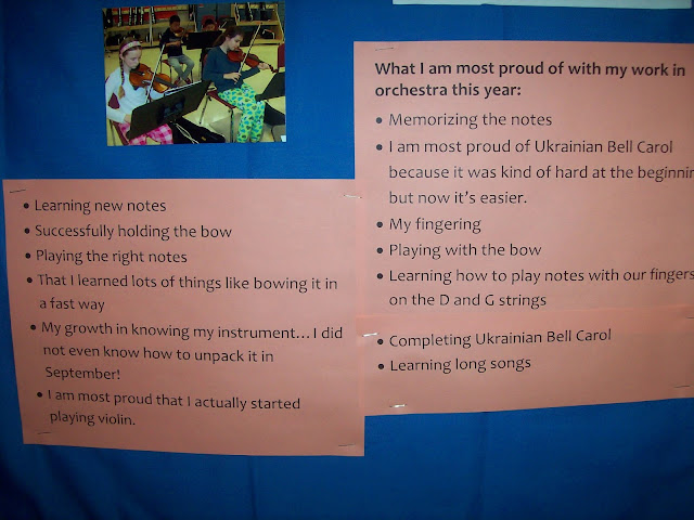 Winter concert reflection bulletin board