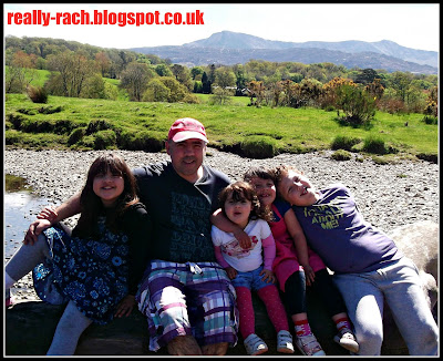 My family with Cader Idris in the background