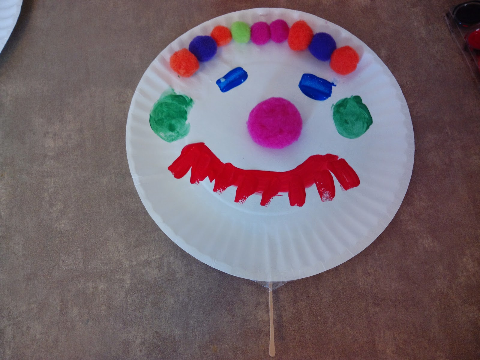 *You can also use the pom poms to make hair for the clown like Makayla did on hers & The Ultimate Work At Home Momma!: DIY paper plate clown face ...