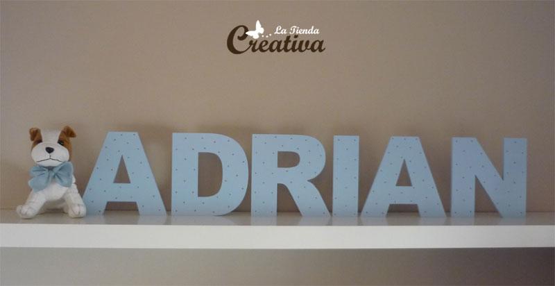 La tienda creativa letras para decorar y mucho m s letras para decorar adri n - Perchas infantiles de pared ...