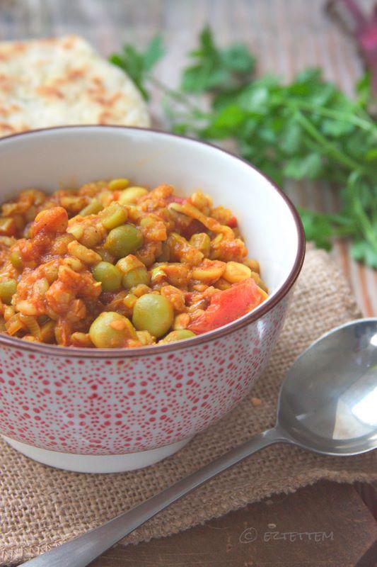 curry hüvelyesekből cékla raitával