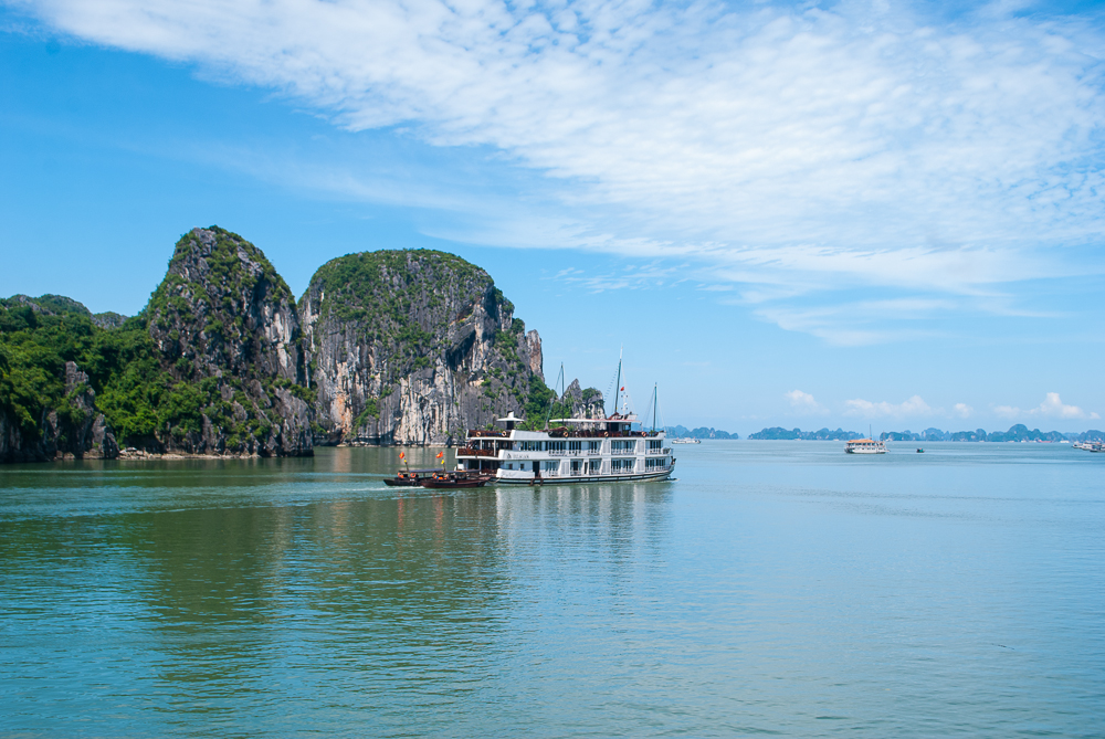 photograph of ha long bay vietnam