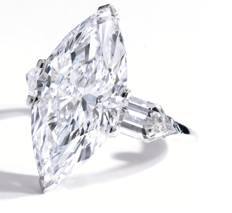 4.97carats Marquise Diamond Ring