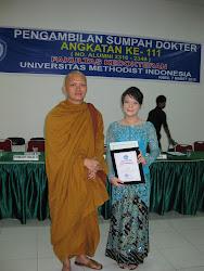 foto Pengambilan sumpah dokter Umum di Universitas Methodist Indonesia