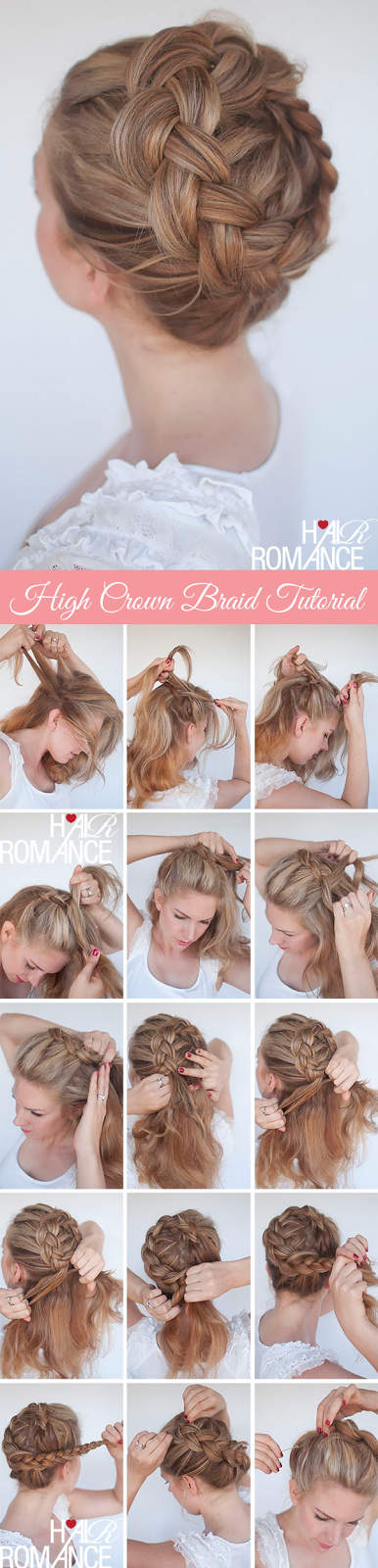 The High Braided Crown Hairstyle