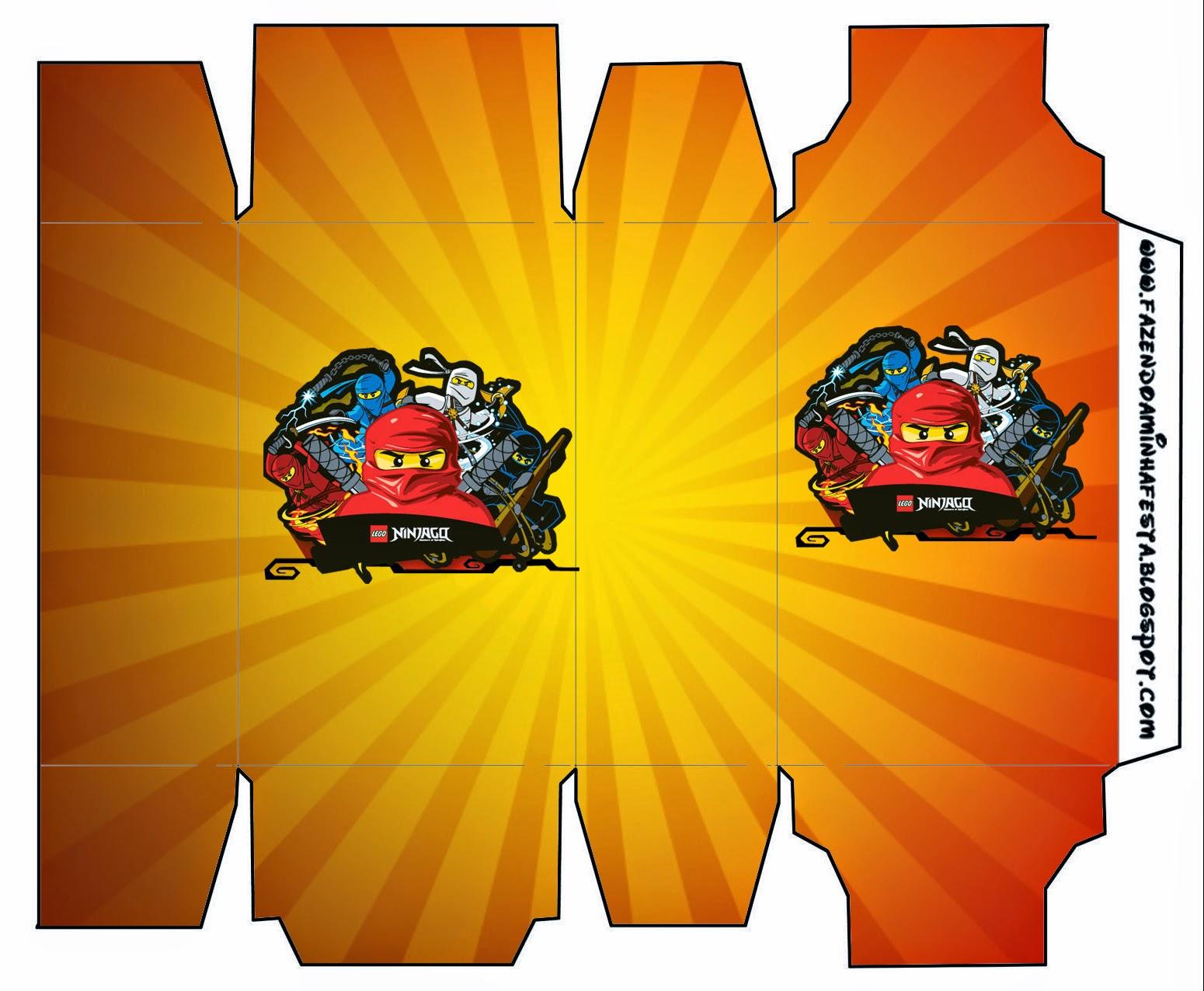 Cajas de Ninjago para imprimir gratis de Ninjago.