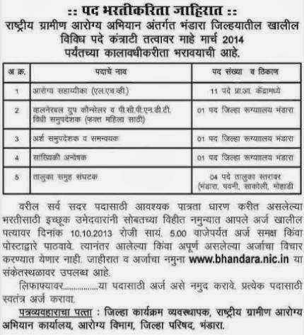 Vacancy Details Bhandara
