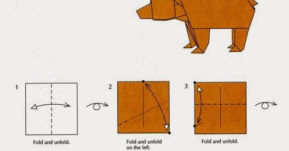 Origami Bear Instructions Arts And Crafts Ideas Projects