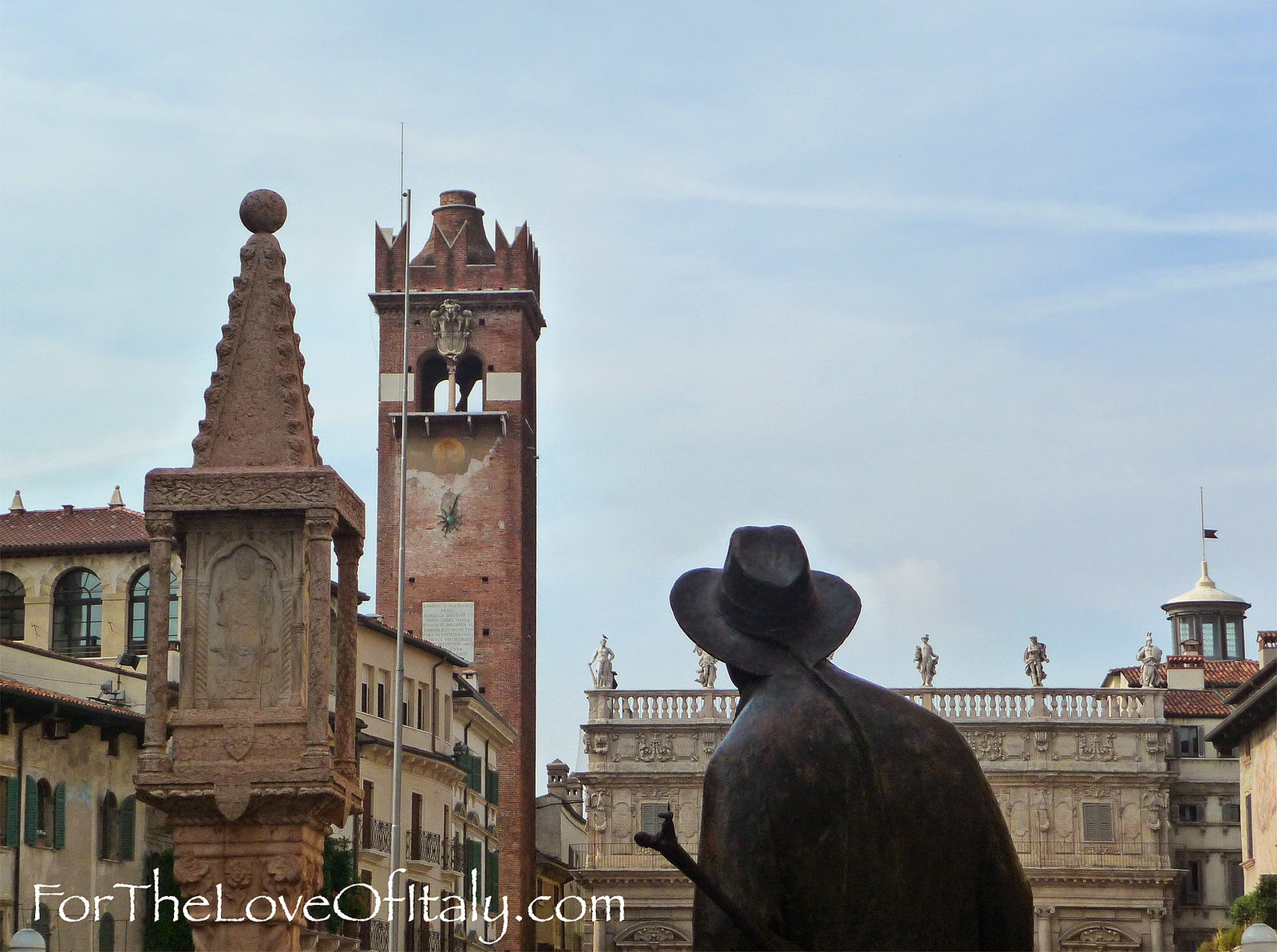 The Berto Barbarani Statue In Verona Italy
