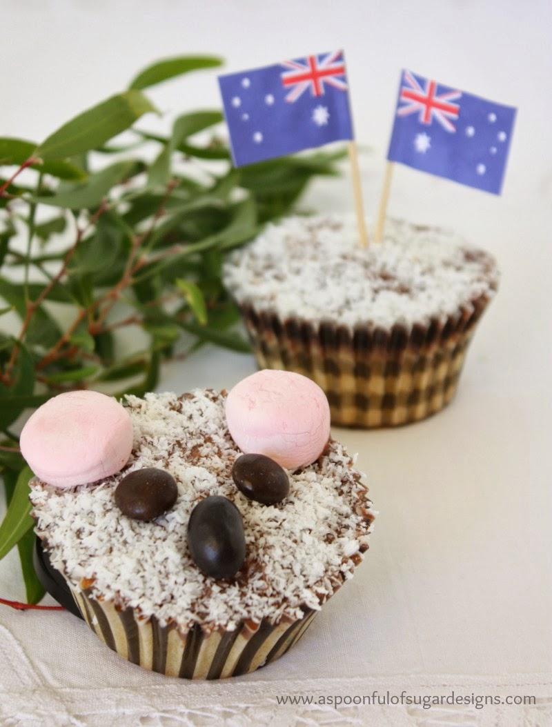Koala Lamington Cupcakes Lamington Cupcakes Makes 12