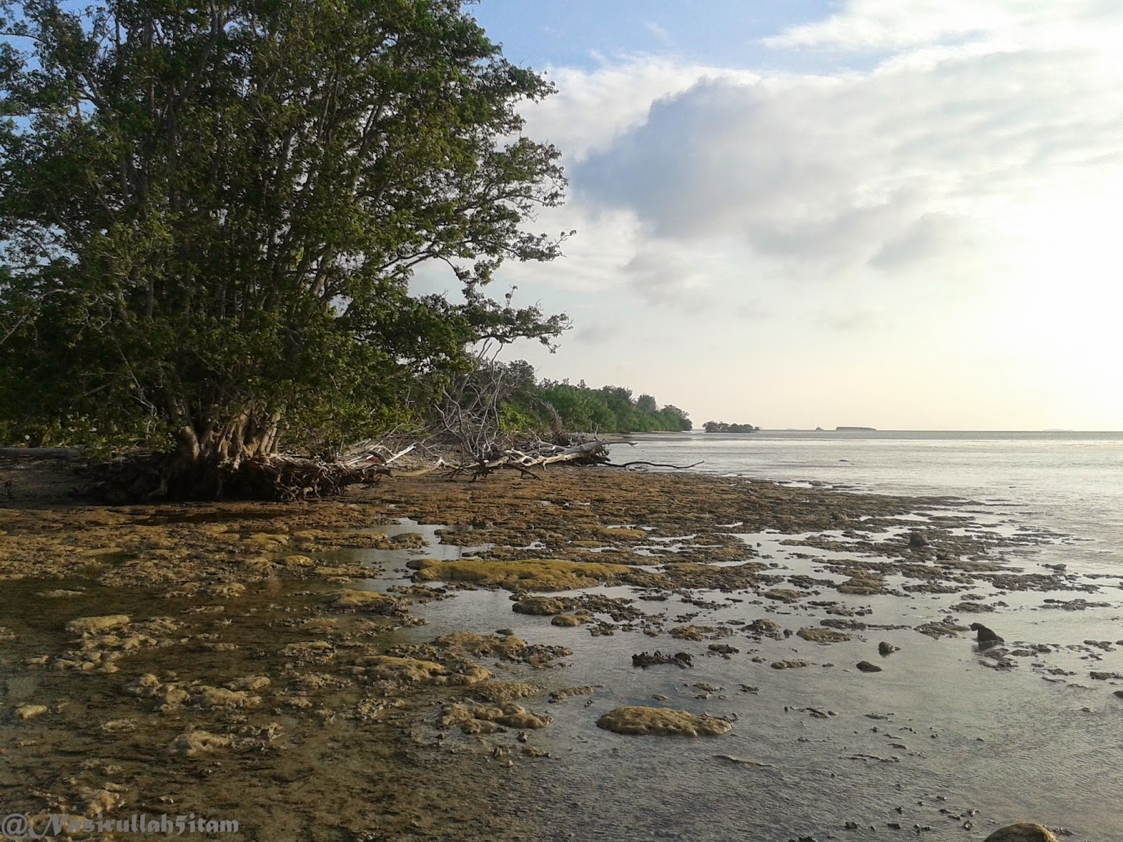 Pesisir di pantai Batu Pengantin, Ujung Batulawang, Karimunjawa