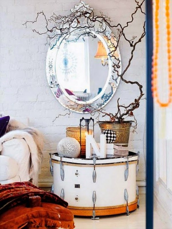deco post bedside table