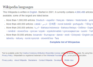 wikipedia mobile view - view mobile version on pc