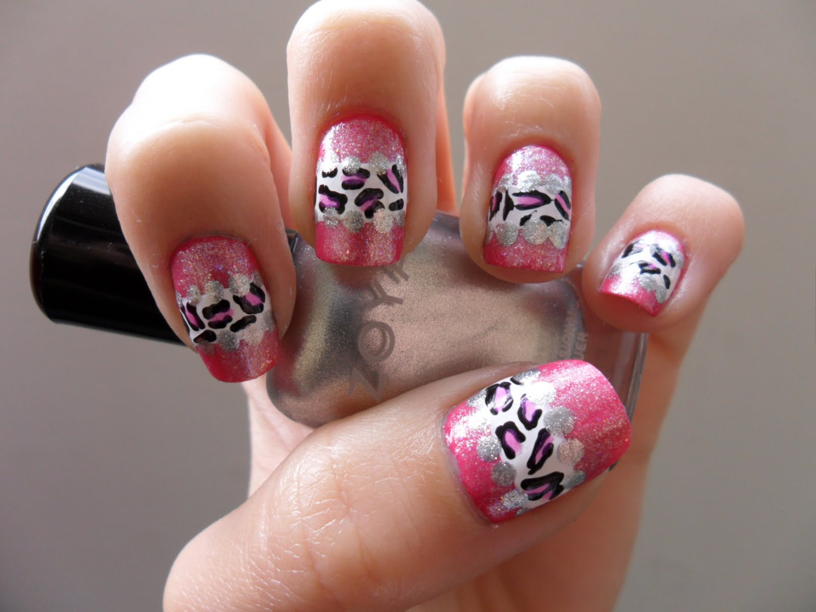 The Awesome Cheetah and zebra print nail designs Pics