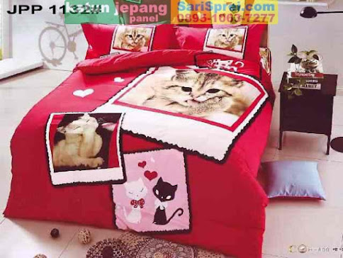 Sprei Katun Jepang Panel Cat Lover