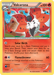 Volcarona Ancient Origins Pokemon Card