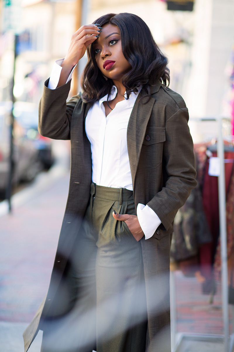 Jcrew culottes, asos military maxi blazer, christian louboutin so kate, www.jadore-fashion.com