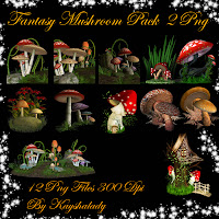 PNG resources, PNG Tubes, PNG tubes, Fantasy mushrooms