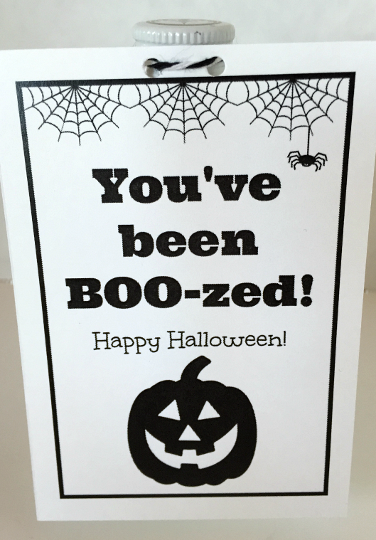 photograph relating to You've Been Boozed Printable identified as Karens Options Galore!: Youve been BOO-zed (with Totally free Printable)