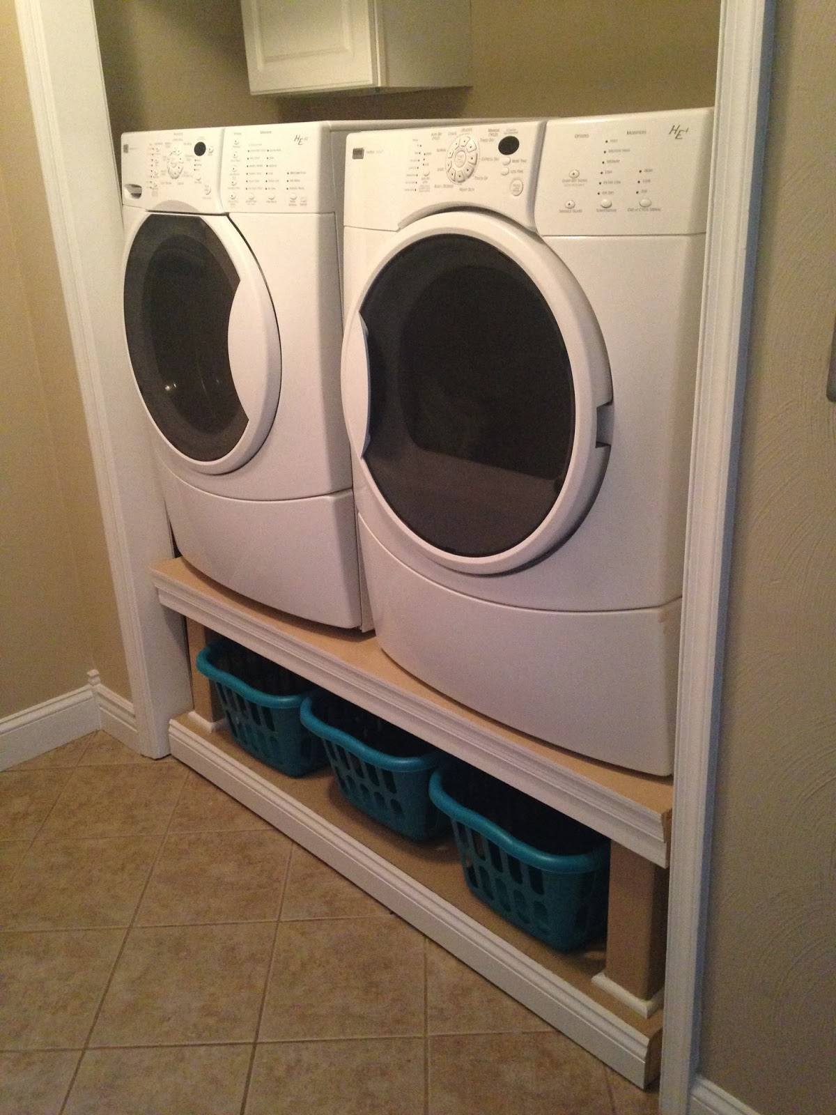 washer diy laundry pedestal