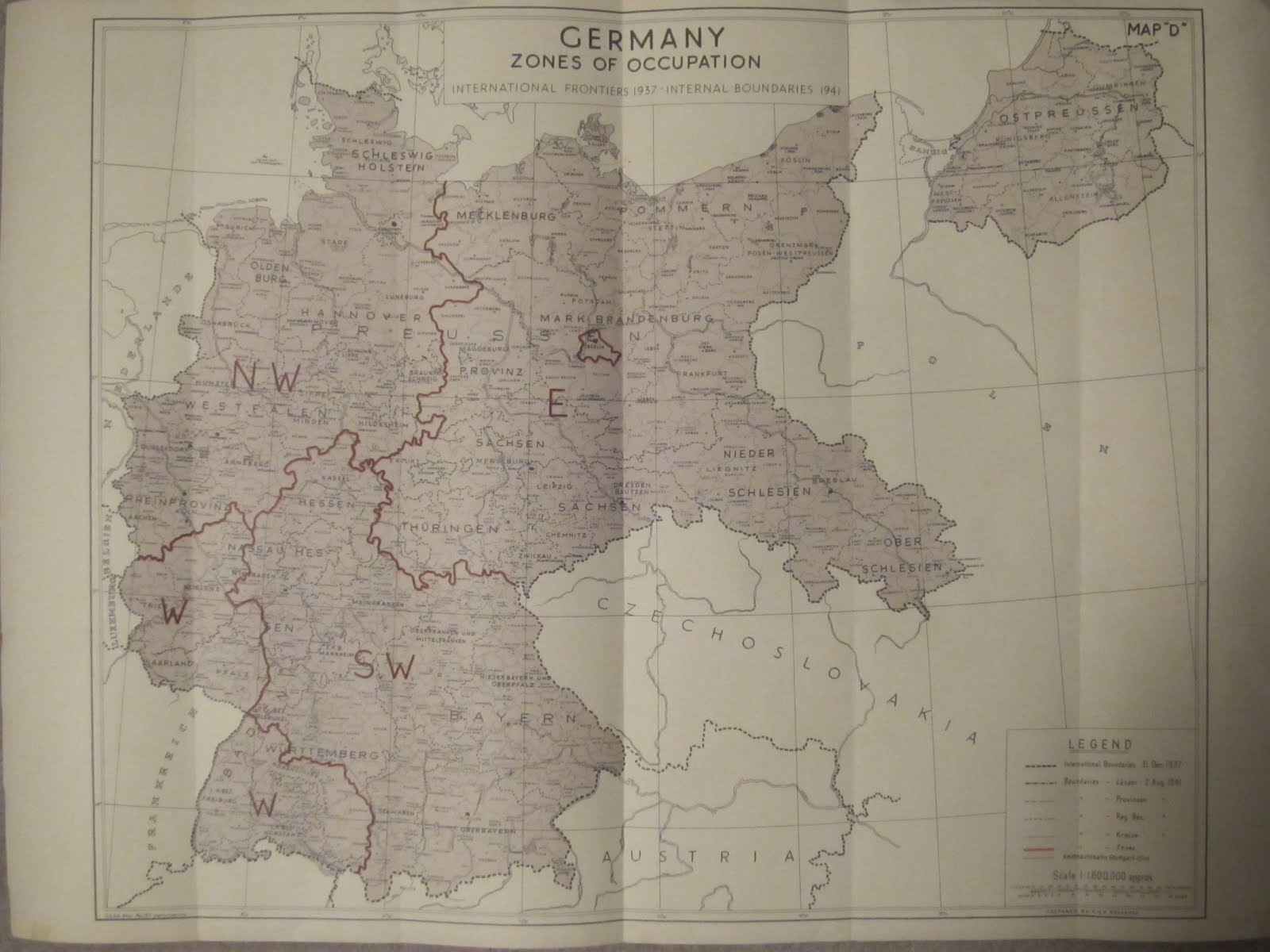Historical Maps Of Germany Page - Germany map zones