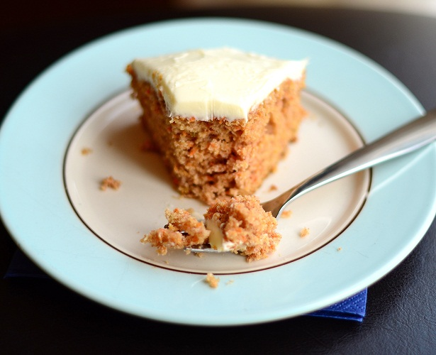 Spiced Carrot Cake with Orange Cream Cheese Frosting