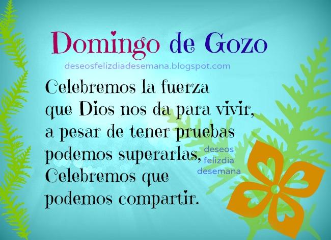 Feliz Domingo de Gozo | Deseos Feliz Día de Semana View Image