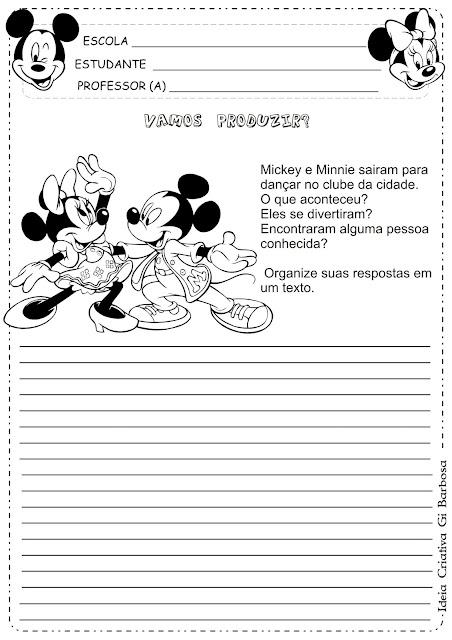 Produção de Texto Turma do Mickey