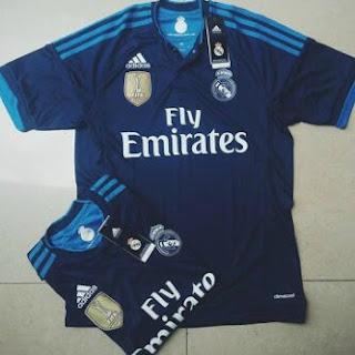 gambar desain terbaru photo kamera Jersey kids Real Madrid third terbaru musim 2015/2016 di enkosa sport toko online terpercaya lokasi di jakarta pasar tanah abang