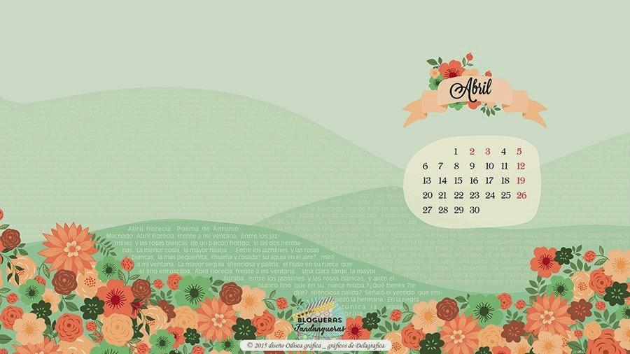 Marthibis fondo pantalla abril for Fondo de pantalla calendario 2018