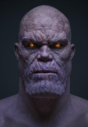 Thanos' face and costu...