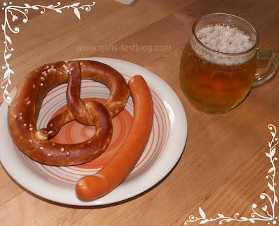 deftige Brotzeit mit Bier
