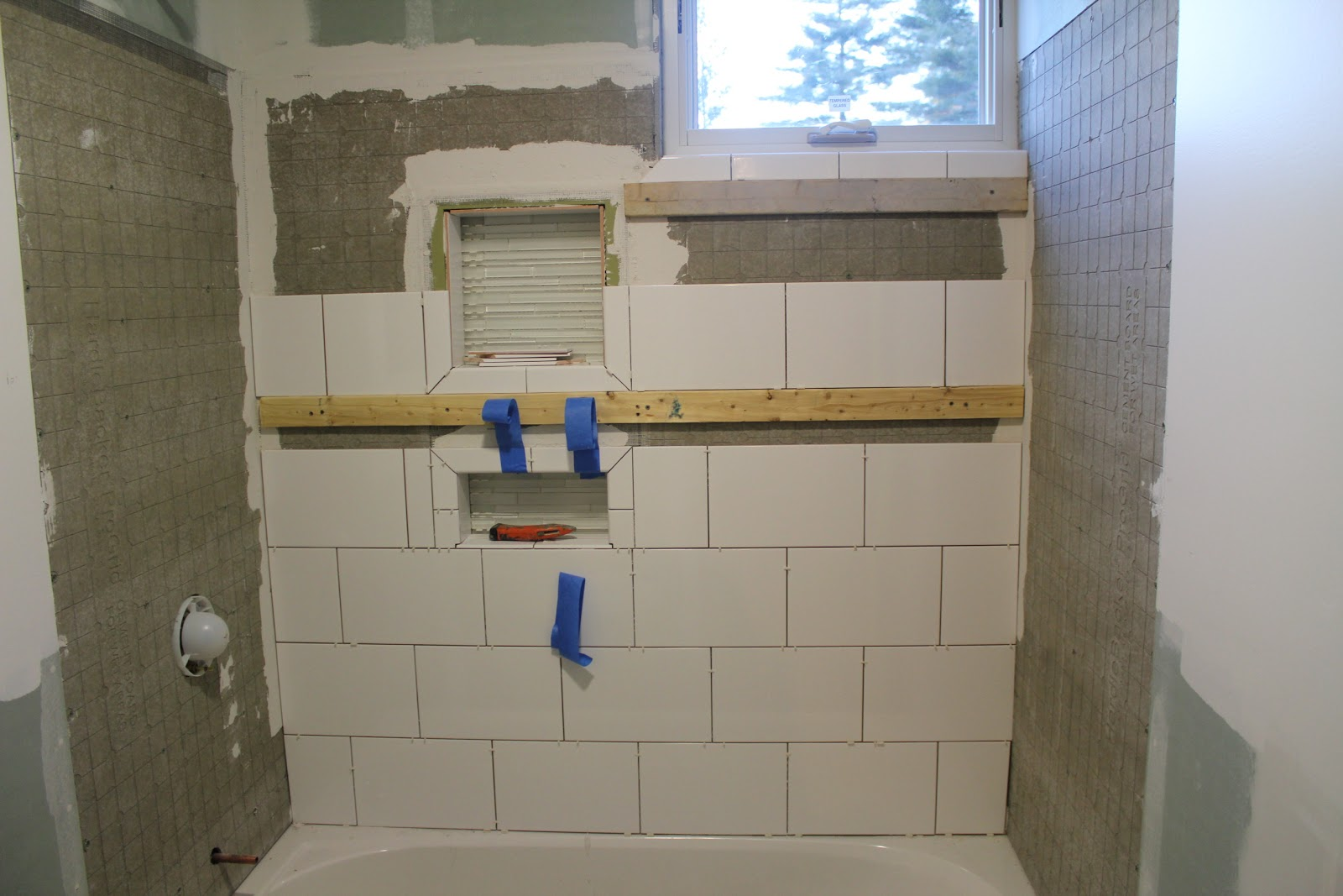 White Subway Tile Shower Niche 8 X12 Glossy Toilet Badkamer Doetinchem