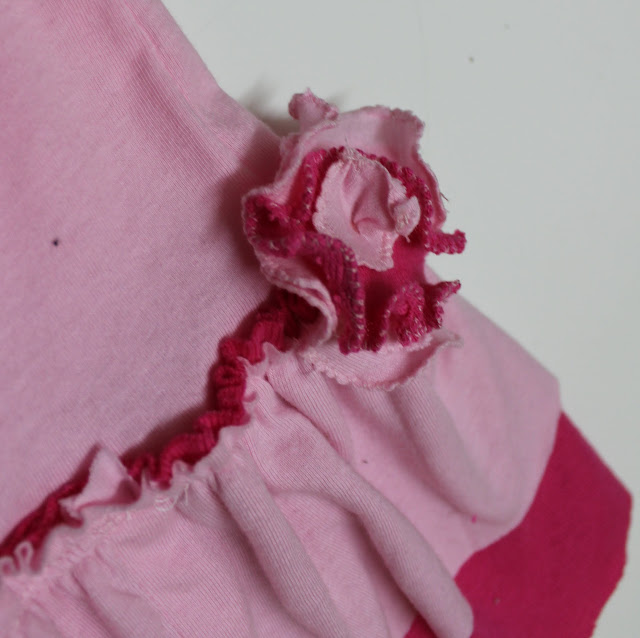 sewing rolled hem fabric flowers