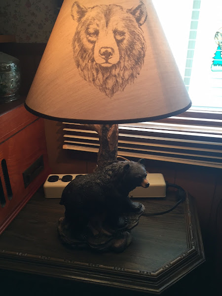 Bear Lamp bought in Cook Forest, Pa. ~