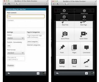 WordPress app for BlackBerry 10