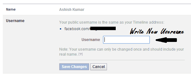 Change Facebook Username After Limit