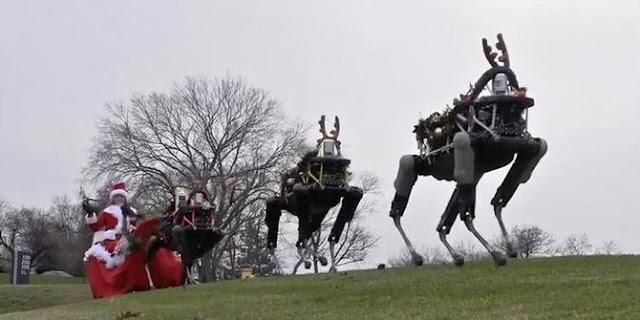 (Video) Lincah nya Robot Rusa Milik Google Narik Kereta Sinterklas