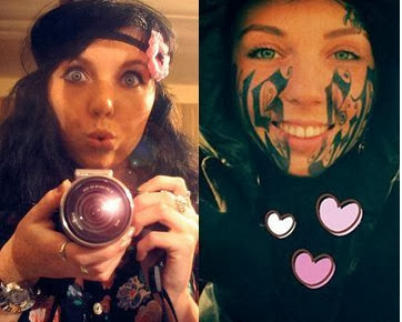 Gadis Cantik Tatto Wajah Dengan Nama Pacar Karena Cinta