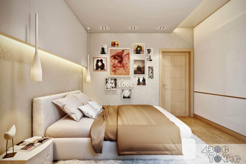 Спальня с кроватью SMA Lido