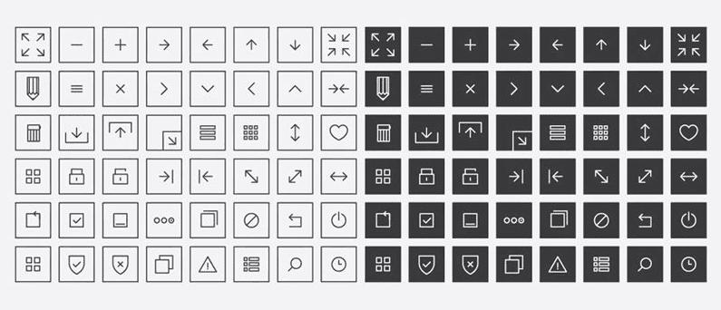 Vector Interface Icons (AI, EPS)