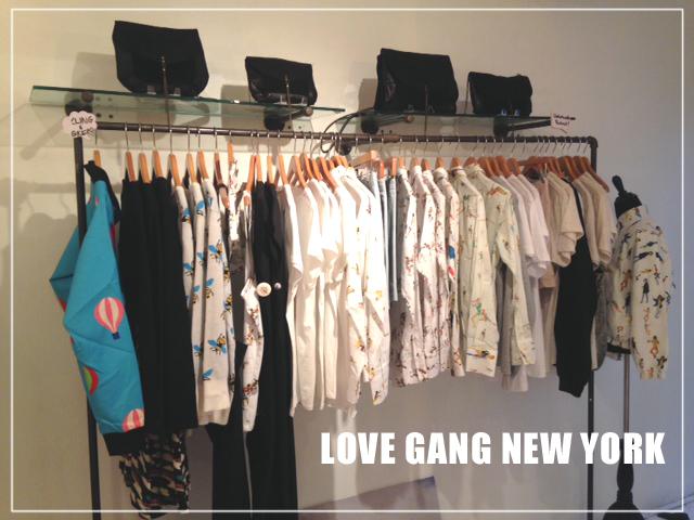 Matieres a reflexion à New York chez Love Gang