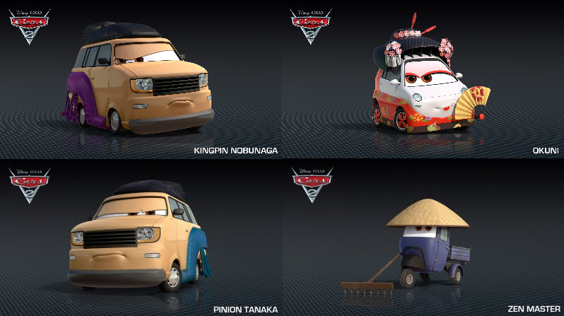 Más personajes japoneses en cars 2 world gran prix